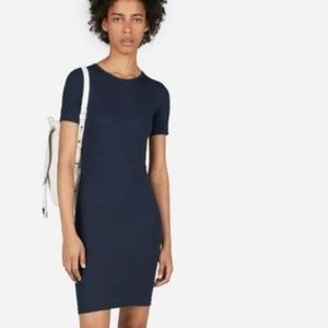 Everlane Pima Micro Rib Tee Dress